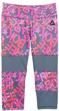 Reebok Digital Logo Toss Capri Legging (Big Girls)