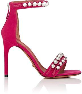 Givenchy Women's Bead-Embellished Suede Sandals