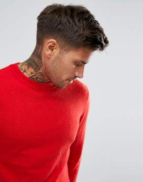 Pull&Bear Fine Knit Sweater In Red