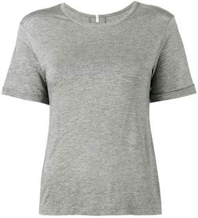 Lot 78 Lot78 Grey Cashmere Blend Side Split T shirt