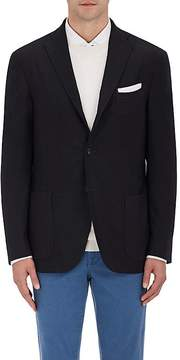 Boglioli Men's Wool Hopsack Three-Button Sportcoat