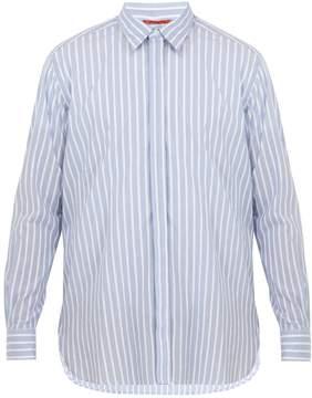 Barena VENEZIA Point-collar striped cotton shirt