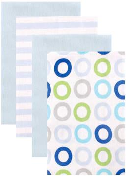 Luvable Friends Blue & White Geometric Burp Cloth Set