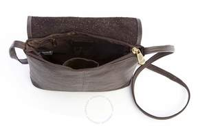 Royce Leather Royce Brown Colombian Leather Flap Over Crossbody Bag