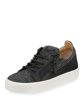 Giuseppe Zanotti Men's Studded Dual Zip Low-Top Sneakers
