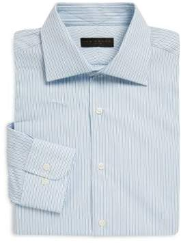 Ike Behar Regular-Fit Striped Poplin Dress Shirt