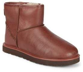 UGG UGGpure Classic Mini Deco Scotch Grain Leather Booties
