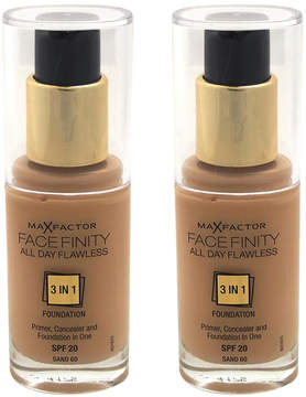 Max Factor Sand Facefinity All Day Flawless 3-in-1 Foundation - Set of Two