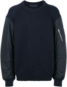 Juun.J padded sleeves sweatshirt