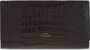 Smythson Mara Marshall leather travel wallet