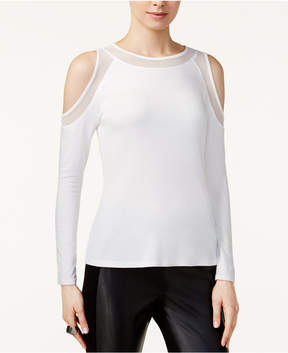 Bar III Cold-Shoulder Illusion Top, Created for Macy's