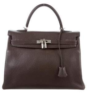 Hermes Clemence Kelly Retourne 32 - BROWN - STYLE