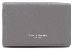 Saint Laurent Leather wallet - GREY - STYLE
