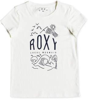 Roxy See You Again Night Surf Cotton T-Shirt, Big Girls