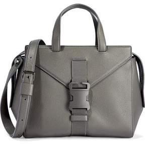 Christopher Kane Mini Marshall Buckled Textured-Leather Shoulder Bag