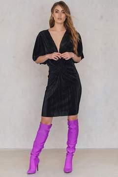 NA-KD Na Kd Pleated Knot Front Dress