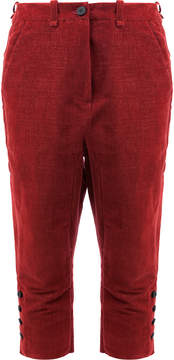 Masnada button detail cropped trousers