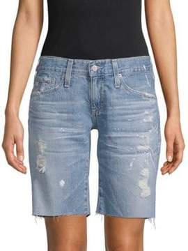 AG Adriano Goldschmied Distressed Denim Shorts