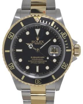 Rolex Submariner 16613 Stainless Steel & 18K Yellow Gold 40mm Watch