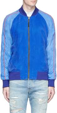 Denham Jeans Fan embroidered reversible cupro souvenir jacket