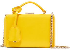 Mark Cross Grace Mini Glossed-leather Shoulder Bag - Yellow