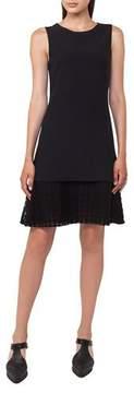 Akris Punto Sleeveless Lace-Hem Dress