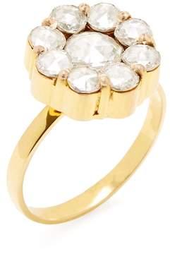 Amrapali Women's 14K Yellow Gold & Diamond Floral Cocktail Ring