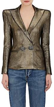 Faith Connexion Women's Leather Peak Lapel Blazer