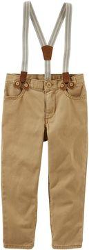 Osh Kosh Toddler Boy Twill Suspender Pants