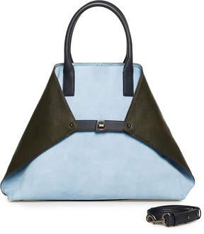 Akris Ai Medium Suede Top Handle Bag
