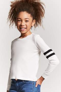 Forever 21 Girls Varsity Stripe Top (Kids)