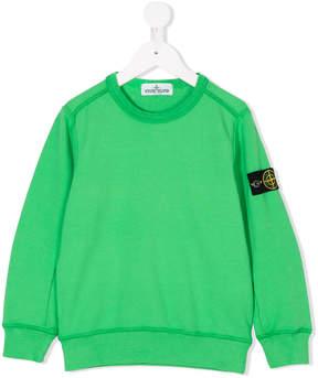 Stone Island Junior long sleeve patch sweatshirt