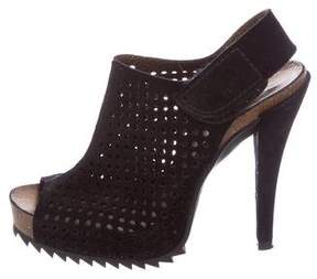 Pedro Garcia Suede Perforated Booties