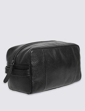Marks and Spencer Pebble Grain Leather Washbag