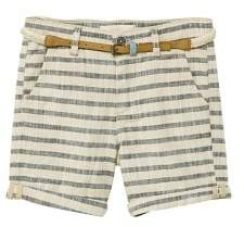 MANGO Striped cotton bermuda shorts