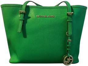 MICHAEL Michael Kors Jet Set Green Leather Handbag