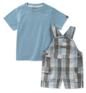 Calvin Klein Jeans Baby Boy's Two-Piece Tee and Shortall Set