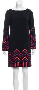 Andrew Gn Beaded Long Sleeve Mini Dress