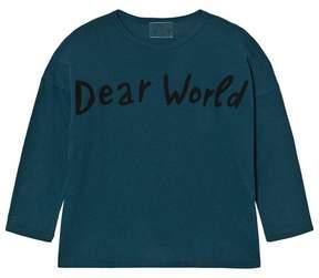 Bobo Choses Blue Dear World Long Sleeve T-Shirt