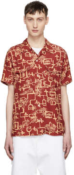 Levi's Clothing Red and Yellow Lark Print Shirt