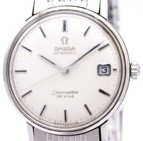 Omega Seamaster Automatic Stainless Steel 34mm Mens Dress Watch