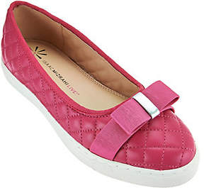 Isaac Mizrahi Live! Quilted Leather Flats w/Bow