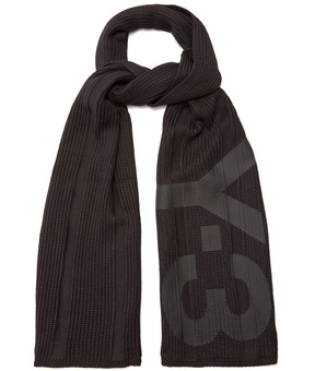 Y-3 Logo knit scarf