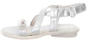 Dolce & Gabbana Girls' Leather Crossover Sandals