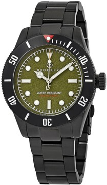 Co Brooklyn Watch Black Eyed Pea Green Dial Men's Watch