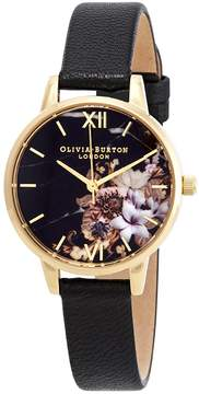 Olivia Burton Marble Florals Black Dial Ladies Watch