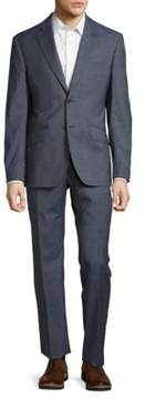 Hardy Amies Two-Piece Checked Suit Jacket and Pants Set