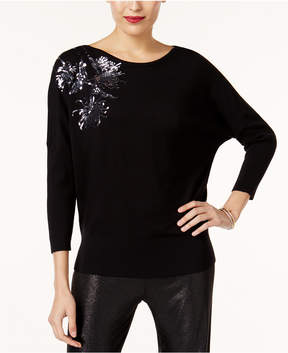 Alfani Sequined Dolman-Sleeve Sweater, Created for Macy's