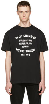 McQ Black The Past Moment T-Shirt