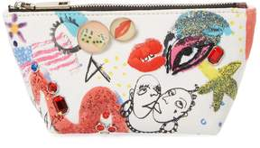 Marc Jacobs Printed Trapezoid Cosmetic Pouch